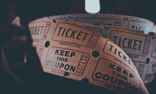 Movie ticket image